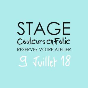 Stage vacances le 9 juillet 2018 atelier scrap scrapbooking home-deco couleurs-en-folie isabelle-lafolie lille marcq-en-baroeul stage vacances été 2018 diy