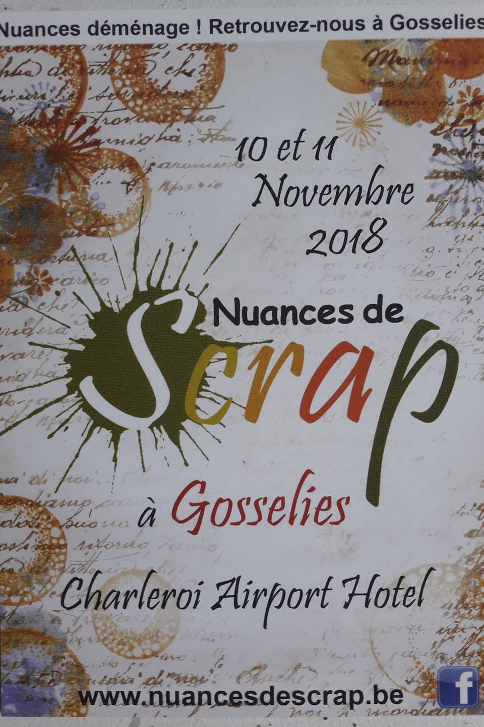 Salon Nuances de Scrap à Gosselies novembre 2018 salon diy scrap scrapbooking kits mini-albums les-kits-de-couleurs-en-folie couleurs-en-folie