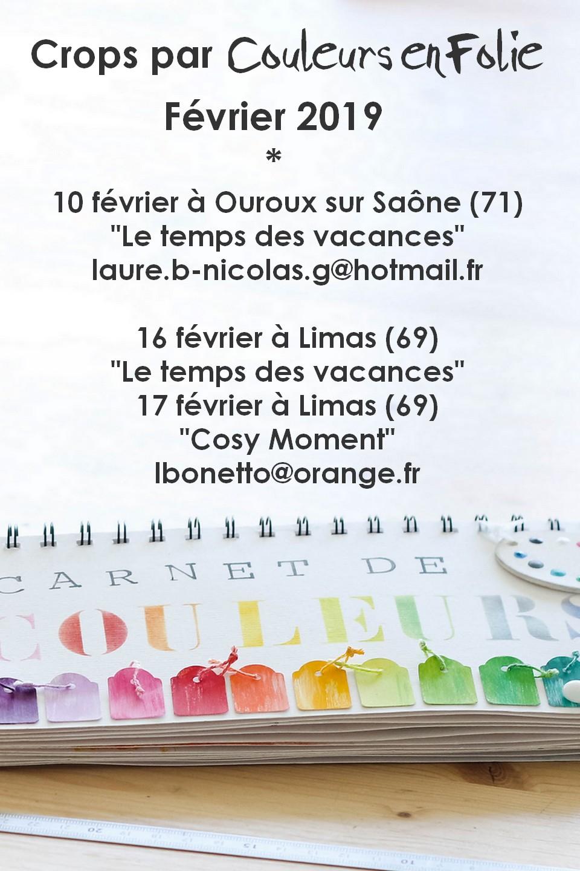 crop crops cropping atelier ateliers scrap scrapbooking mini-album couleurs-en-folie isabelle-lafolie février 2019