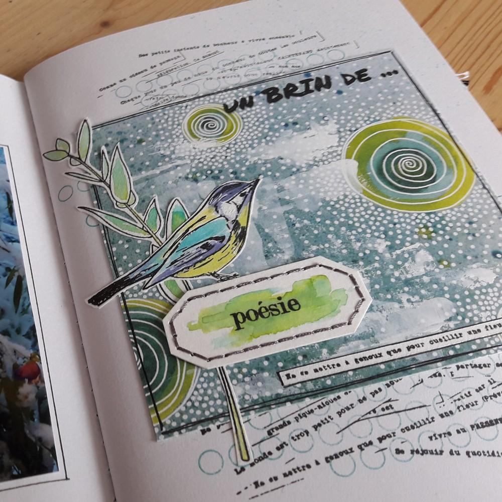 kit mini-album expression libre kit scrap scrapbooking scrapbook mini-album couleurs-en-folie isabelle-lafolie atelier ateliers kits carnet création art inspiration imagination gesso