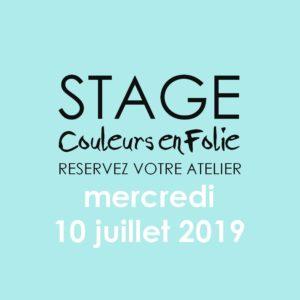 Stage vacances le 10 juillet 2019 atelier scrap scrapbooking home-deco couleurs-en-folie isabelle-lafolie lille marcq-en-baroeul stage vacances 2019 diy