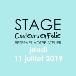Stage vacances le 11 juillet 2019 atelier scrap scrapbooking home-deco couleurs-en-folie isabelle-lafolie lille marcq-en-baroeul stage vacances 2019 diy