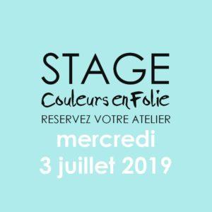 Stage vacances le 3 juillet 2019 atelier scrap scrapbooking home-deco couleurs-en-folie isabelle-lafolie lille marcq-en-baroeul stage vacances 2019 diy