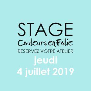 Stage vacances le 4 juillet 2019 atelier scrap scrapbooking home-deco couleurs-en-folie isabelle-lafolie lille marcq-en-baroeul stage vacances 2019 diy