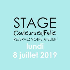 Stage vacances le 8 juillet 2019 atelier scrap scrapbooking home-deco couleurs-en-folie isabelle-lafolie lille marcq-en-baroeul stage vacances 2019 diy