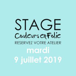 Stage vacances le 9 juillet 2019 atelier scrap scrapbooking home-deco couleurs-en-folie isabelle-lafolie lille marcq-en-baroeul stage vacances 2019 diy