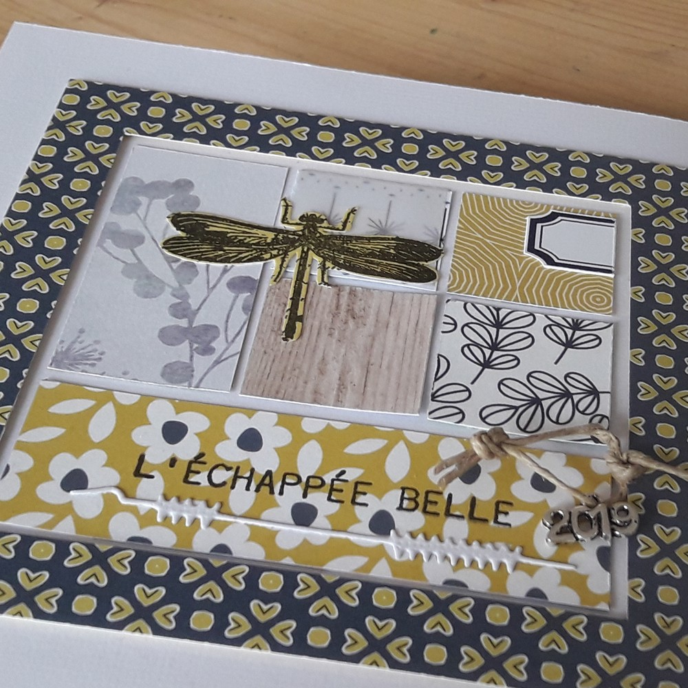kit mini-album Ete 2019 kit scrap scrapbooking Couleurs-en-Folie mini-album album photos tissu papier vacances tampons isabelle-lafolie atelier stage