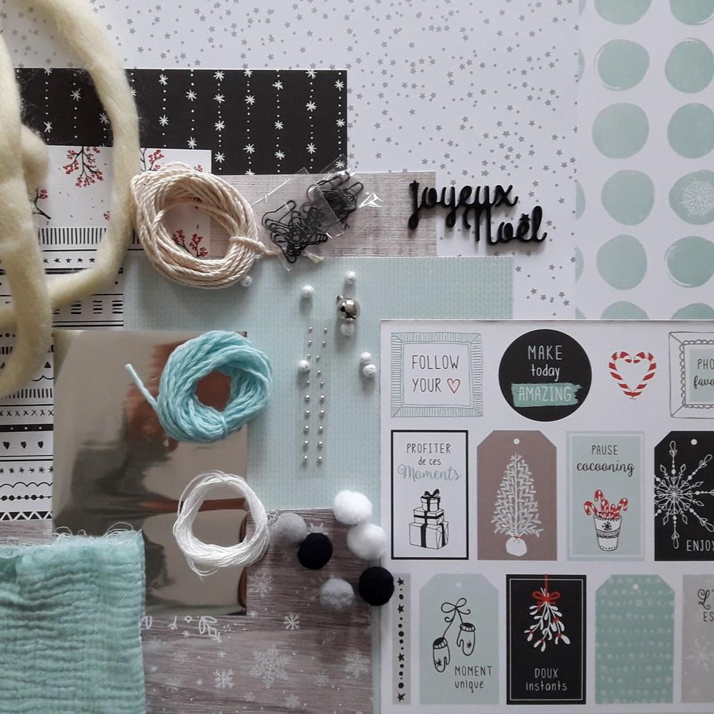 Kit Calendrier de l'Avent 2019 couleurs-en-folie isabelle-lafolie calendrier de l'avent noël décoration home-déco déco-de-noël avent surprise saint-nicolas boîtes berlingot papillotes tissage