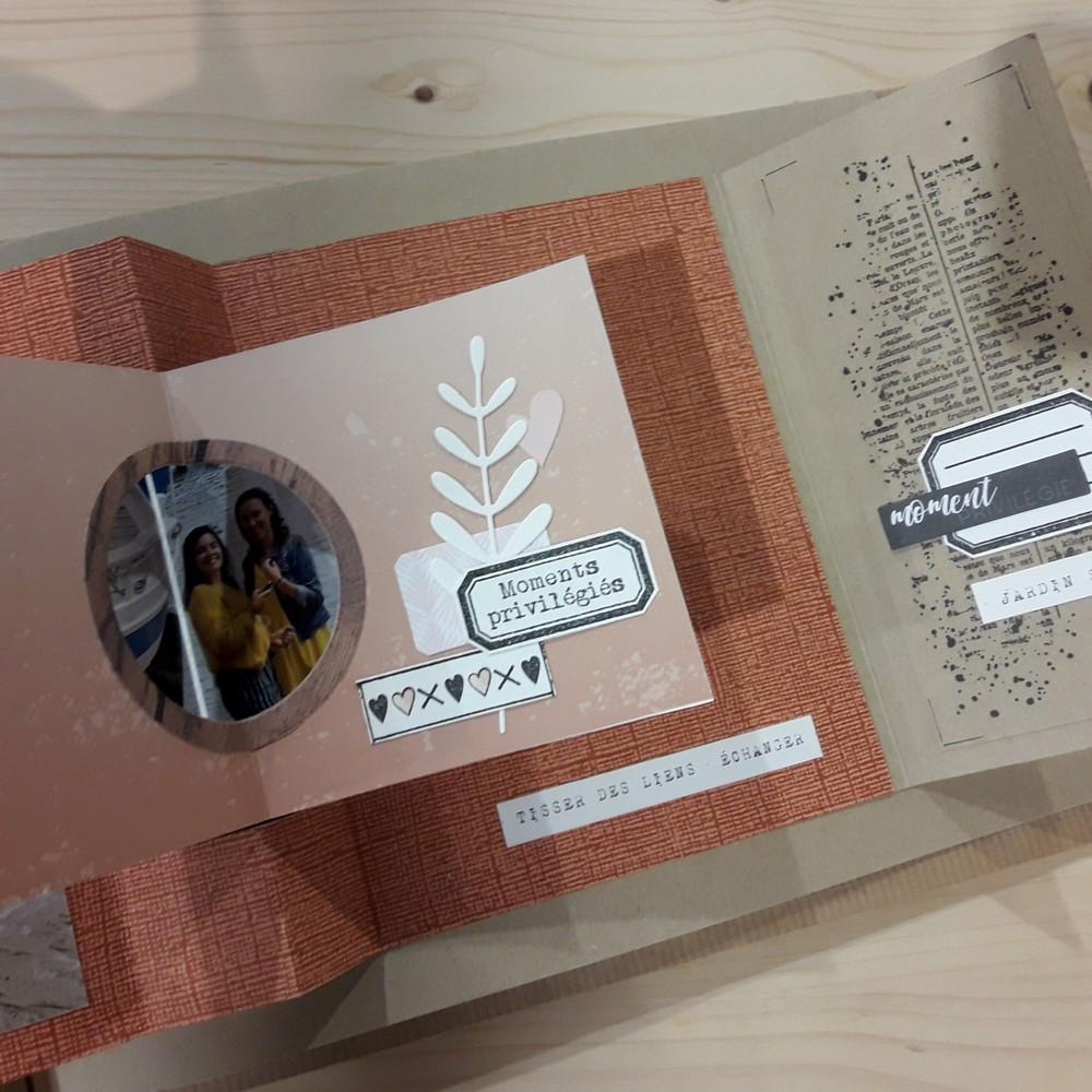 Kit mini-album Souvenirs de voyage kit scrap scrapbooking scrapbook mini-album photos grand-format XL tampons mariage road-book voyage nature photographie atelier crop isabelle-lafolie les kits de couleurs en folie couleurs-en-folie