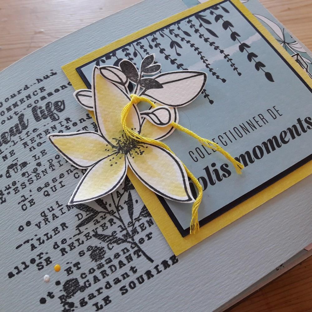 Kit mini-album Jolis moments Couleurs-en-Folie scrap scrapbooking scrapbook mini-album kit diy atelier printemps album photos photographie nature famille Isabelle-Lafolie