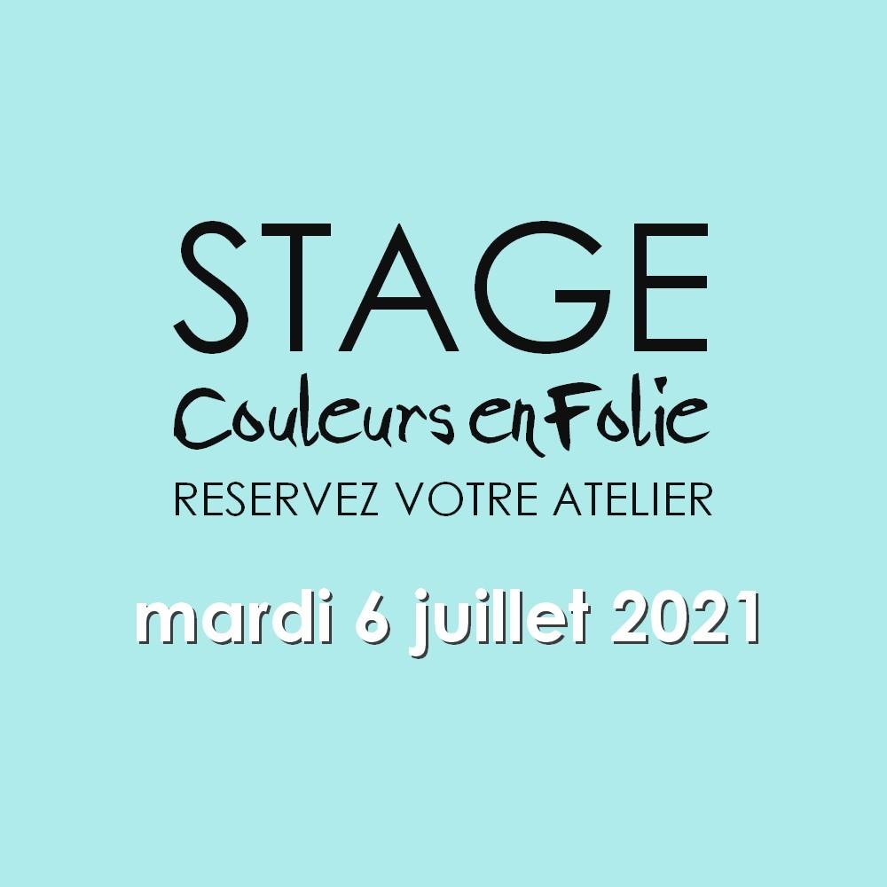 stage vacances le 6 juillet 2021 scrap scrapbooking scrapbook mini-album atelier stage couleurs-en-folie isabelle-lafolie lille marcq-en-baroeul