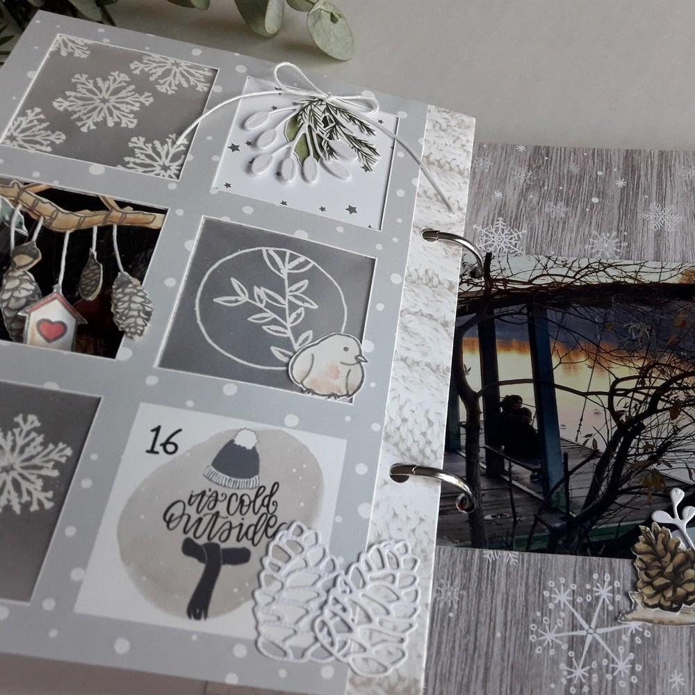 Kit mini-album Douceur d'Hiver les-kits-de-Couleurs-en-Folie Couleurs-en-Folie Isabelle-Lafolie scrapbooking scrapbook mini-album december-daily dd en-attendant-noël Noël décembre hiver fête Avent tampons stamp-addict