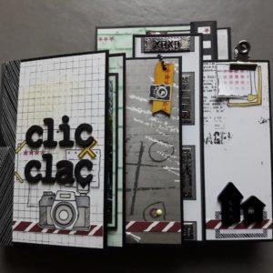 Kit mini-album Clic-clac les-kits-de-couleurs-en-folie scrapbooking scrap scrapbook scrapbookingkit photo album-photo ados adolescents masculin citadin urbain photographie isabelle-lafolie