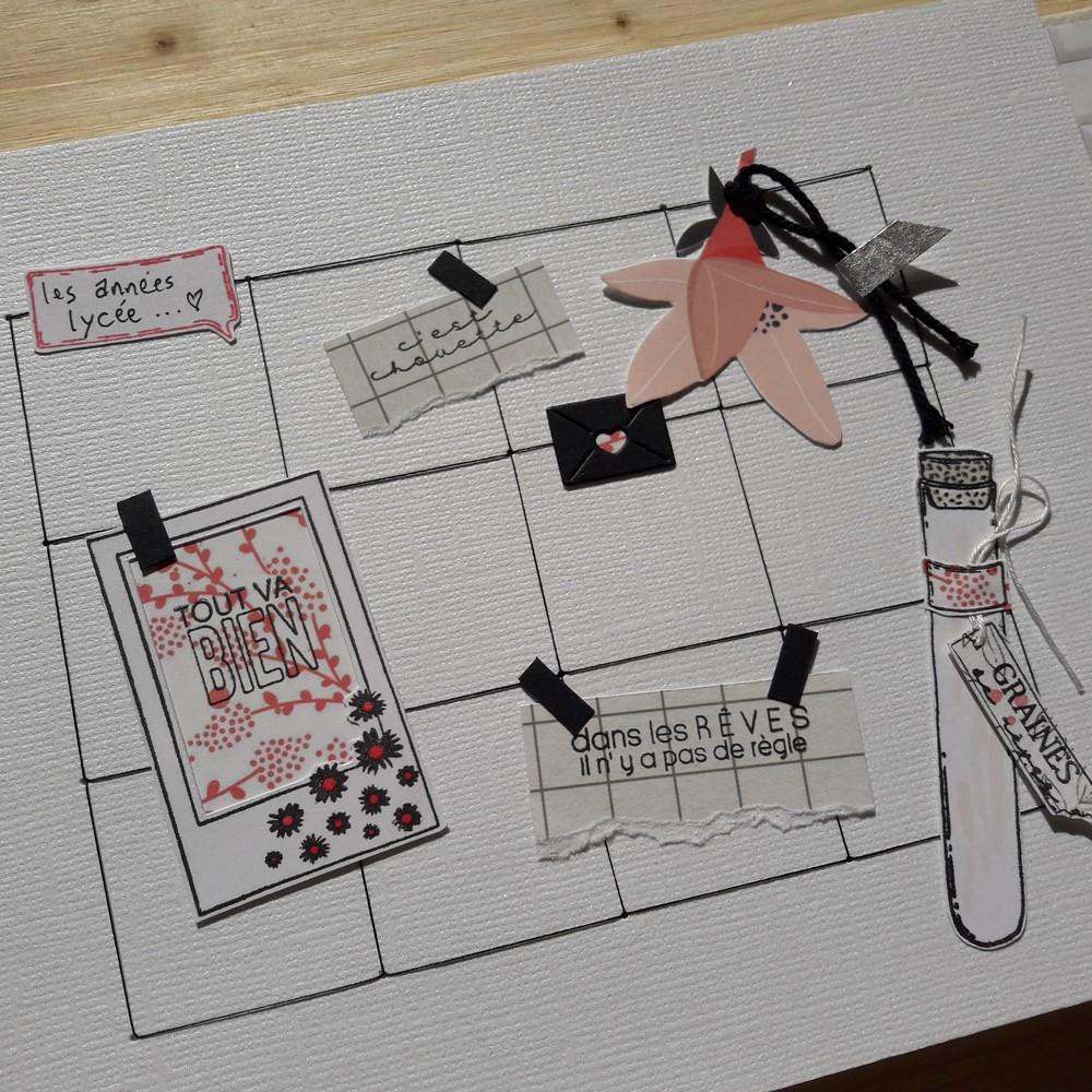 Kit mini-album Emotion Couleurs en Folie kit mini-album photo famille portrait mariage baptême graphique classeur couleurs-en-folie isabelle-lafolie scrap scrapbooking scrapbook